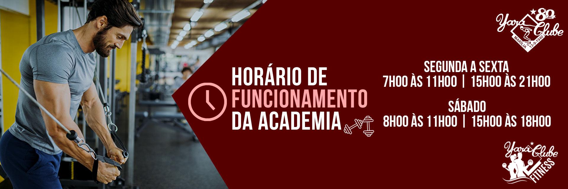 Horário academia