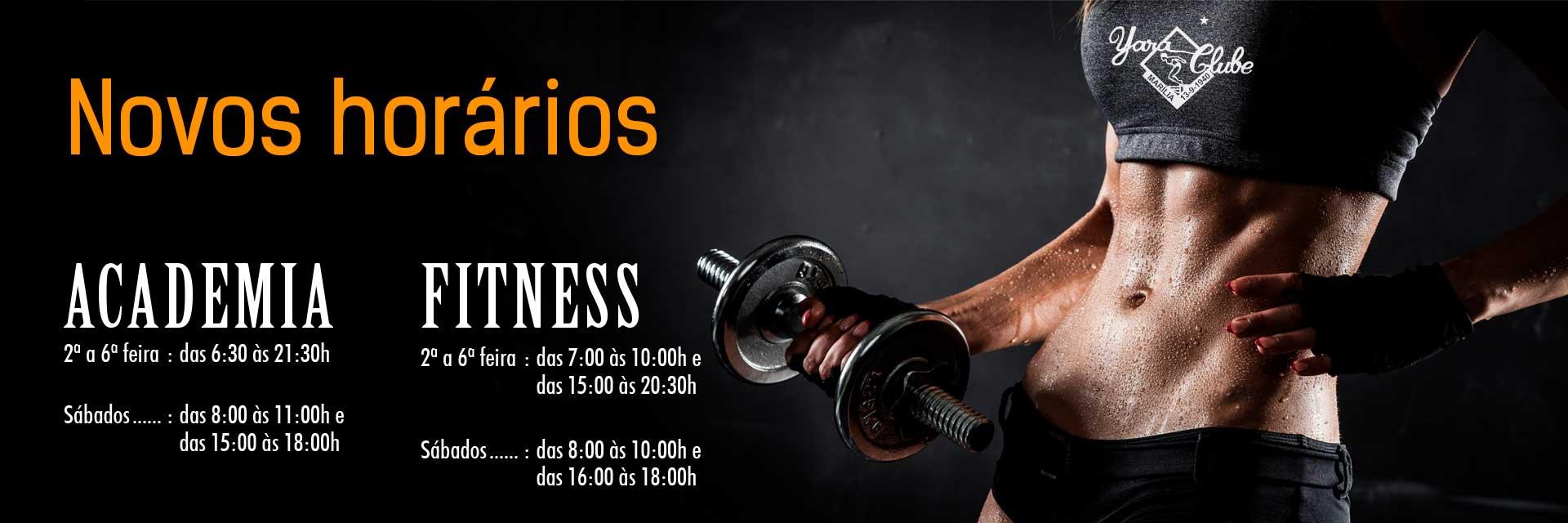 Novos Horarios da Academia e Fitness