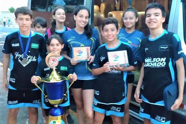Tênis de Mesa do Yara Clube fica em 3º lugar na Liga Oeste Paulista 2019